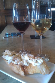 Bouligny Wine & Burrata! YUM!