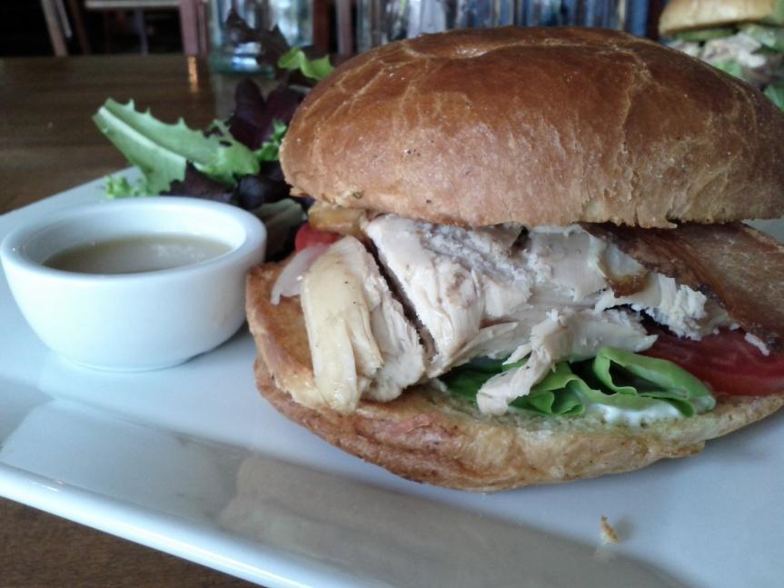 La Fin Chicken Club Sandwich
